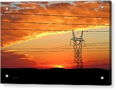 Acrylic Print featuring the photograph Daybreak On The Plains by Bill Kesler
