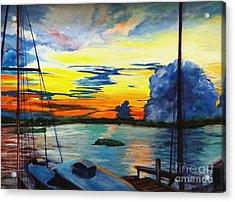 Daybreak Over  Apalachicola River  Acrylic Print