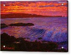 Daybreak Porpoise Bay Acrylic Print by Terry Perham