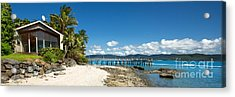 Daydream Island Pano Acrylic Print by Shannon Rogers