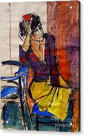 Daydream - Pia #7 - Figure Series Acrylic Print by Mona Edulesco