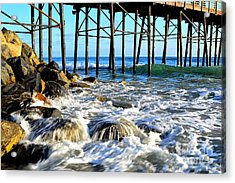 Daydreaming At The Pier Acrylic Print