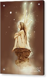 Daydreaming Faerie Acrylic Print