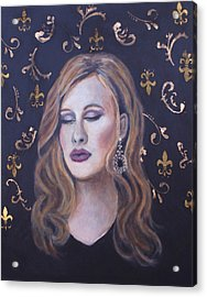 Daydreaming Goddess Acrylic Print by The Art With A Heart By Charlotte Phillips