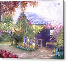 Daylesford Cottage Acrylic Print