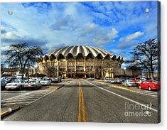 Daylight Of Wvu Basketball Coliseum Arena Acrylic Print