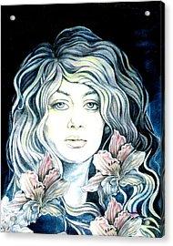 Daylily  Acrylic Print by Diana Shively
