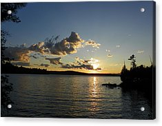 Day's End At Schoodic Lake Acrylic Print