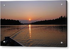 Acrylic Print featuring the photograph Sunset Fishing by Debbie Oppermann
