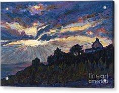 Day's End - Dingle Bay Acrylic Print by Betsee  Talavera