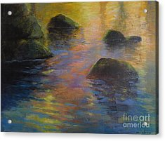 Day's End Acrylic Print by Melody Cleary