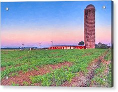 Day's End On The Farm - Rural Georgia Landscape Acrylic Print by Mark E Tisdale
