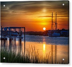 Days End On Water Acrylic Print