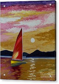 Day's End Acrylic Print by Peggy Miller