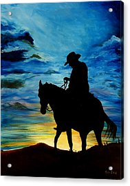 Days End Acrylic Print by Stefon Marc Brown