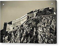 Daytime Palamidi Fortress  Acrylic Print by David Waldo