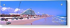 Acrylic Print featuring the photograph Daytona Main Street Pier And Beach  by Tom Jelen