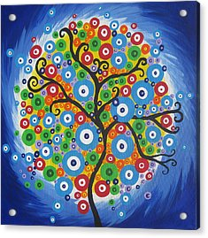 Dazzle Tree Acrylic Print by Cathy Jacobs