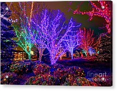 Dazzling Christmas Lights Acrylic Print