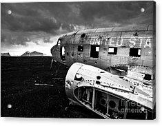Acrylic Print featuring the photograph Dc-3 Iceland by Gunnar Orn Arnason