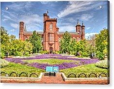 Dc Castle Lawn Acrylic Print by Dado Molina