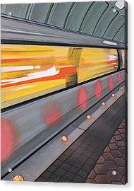 Acrylic Print featuring the painting Dc Light Rail by Jude Labuszewski