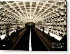 Acrylic Print featuring the photograph Dc Metro by Angela DeFrias