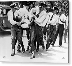 Dc Police Evict Wwi Vet Acrylic Print by Underwood Archives