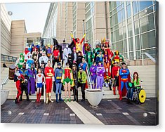 Dc Universe C2e2 2013 Acrylic Print by Andreas Schneider
