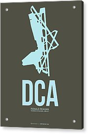 Dca Washington Airport Poster 1 Acrylic Print by Naxart Studio