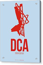 Dca Washington Airport Poster 2 Acrylic Print by Naxart Studio