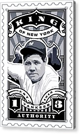 Dcla Babe Ruth Kings Of New York Stamp Artwork Acrylic Print by David Cook Los Angeles