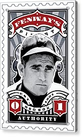 Dcla Bobby Doerr Fenway's Finest Stamp Art Acrylic Print