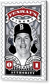 Dcla Carlton Fisk Fenway's Finest Stamp Art Acrylic Print