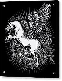 Dcla Cold Dead Hand Pegasus Acrylic Print by David Cook Los Angeles