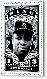 Dcla Elston Howard Kings Of New York Stamp Artwork Acrylic Print by David Cook Los Angeles