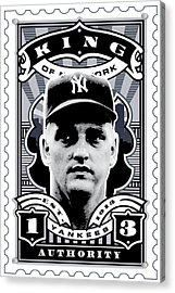 Dcla Roger Maris Kings Of New York Stamp Artwork Acrylic Print by David Cook Los Angeles