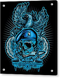 Dcla Skull Airborne All The Way Acrylic Print by David Cook Los Angeles