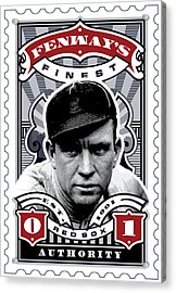 Dcla Tris Speaker Fenway's Finest Stamp Art Acrylic Print by David Cook Los Angeles