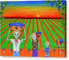 De Colores Acrylic Print by Evangelina Portillo
