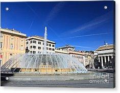 Acrylic Print featuring the photograph De Ferrari Square - Genova by Antonio Scarpi