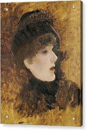De Nittis, Giuseppe 1846-1884. Portrait Acrylic Print