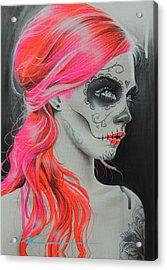 Sugar Skull - ' De Rerum Natura ' Acrylic Print