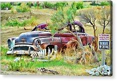 Dead Car Acrylic Print