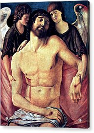 Dead Christ Supported By Angels 1485 Giovanni Bellini Acrylic Print by Karon Melillo DeVega