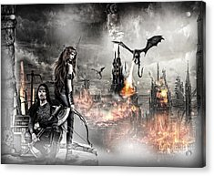 Dead City Acrylic Print by Wendy White