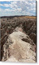 Dead End Trail In Badland National Park South Dakota Acrylic Print by Adam Long