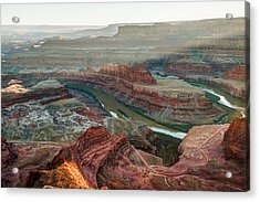 Dead Horse Point At Sunset Acrylic Print