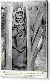 Dead Man Found In Grave Acrylic Print by British Library