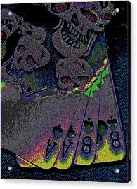 Dead Man's Hand Acrylic Print by Rebecca Flaig